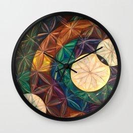 Tetrahedral Nodes HDR Wall Clock
