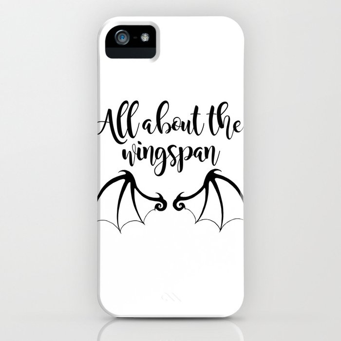 All about the wingspan white design iPhone Case