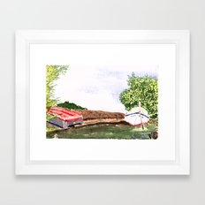 Cape Red boats Framed Art Print