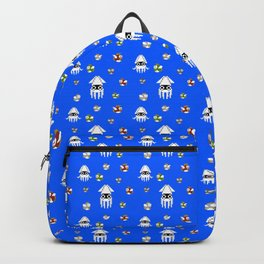 Water Level Sprites | Super Mario Pattern Backpack