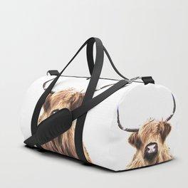 Highland Cow Portrait Duffle Bag