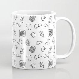 Organs, Black on White Coffee Mug