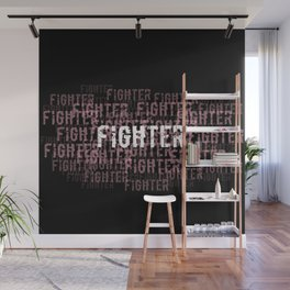 Fighter (On Black) Wall Mural