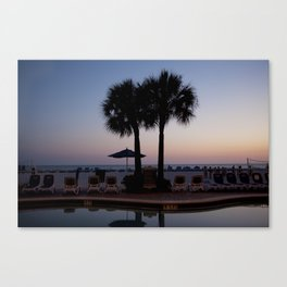 Palm Trees & Sunset Canvas Print