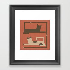 CATS IN LOVE (abstract animals) Framed Art Print