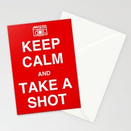 Keep Calm and Take A Shot Stationery Cards