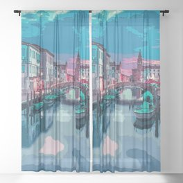 Romance is in the Air Sheer Curtain