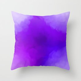 Dreamy Lavender Indigo Clouds Abstract Throw Pillow