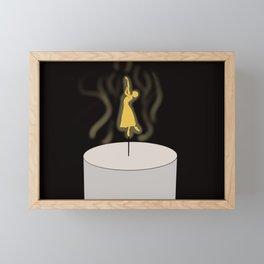 Dancing Flame Framed Mini Art Print