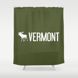 Vermont Moose Shower Curtain