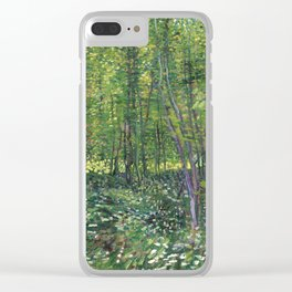 Trees and undergrowth by Vincent van Gogh, 1887 Clear iPhone Case