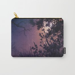 Moonlight Sonata (Tree and Reed Plant Silhouette) Carry-All Pouch