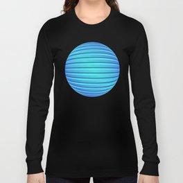 Two Color 3D Slats Long Sleeve T-shirt