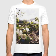 Flowers in the Sun Mens Fitted Tee MEDIUM White