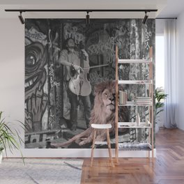 Listening the music. African Invasion. Wall Mural