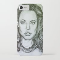 angelina jolie iPhone & iPod Cases featuring Angelina Jolie by Kat Lyon