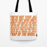 wallet Tote Bags featuring Fight Club by elvisbr