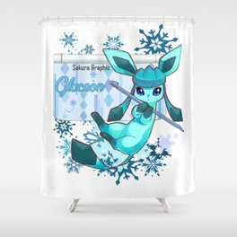 The glacial cold of Glaceon Shower Curtain