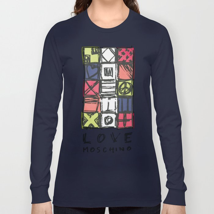 Love Moschin Moschino New Fashion Art Cute Style Trend Kenzo 2018 2019 Color Mixed Shirt Cover Long Sleeve T Shirt By Abllo Society6