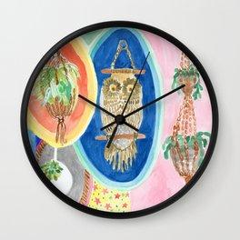 Owl Macrame Wall Clock