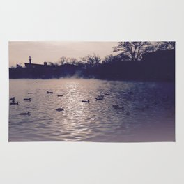 Winter lake Rug
