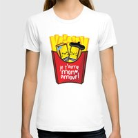 fries T-shirts featuring French Fries by Kleviee