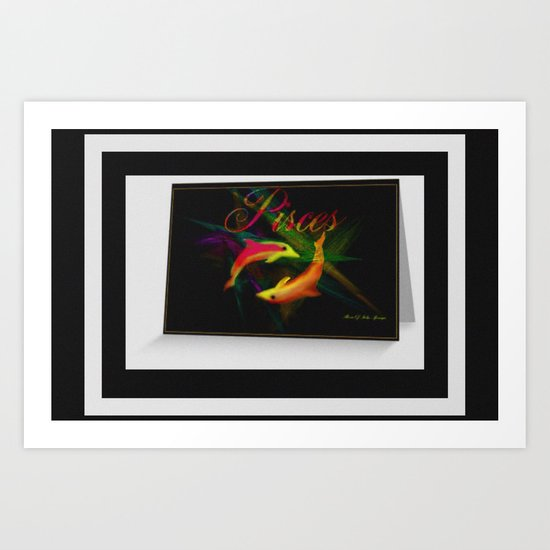 HAPPY BIRTHDAY PISCES Art Print