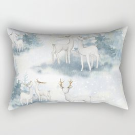 Snowy Winter Forest Rectangular Pillow