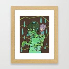Kappaman and Kuri Framed Art Print