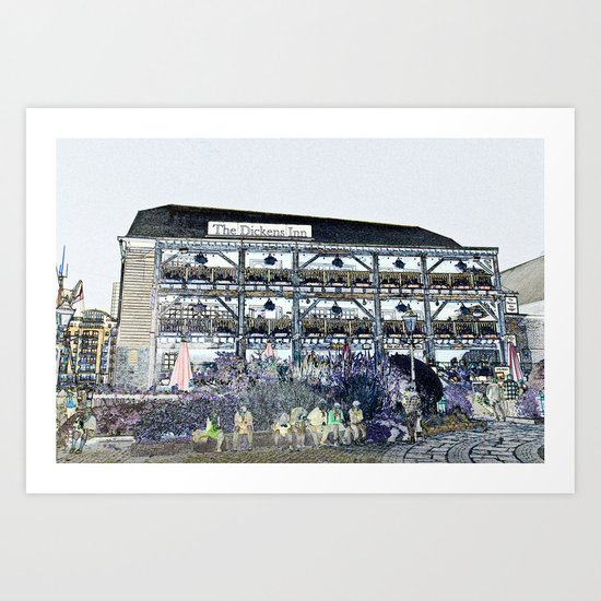 The Dickens Inn Pub London Art Print