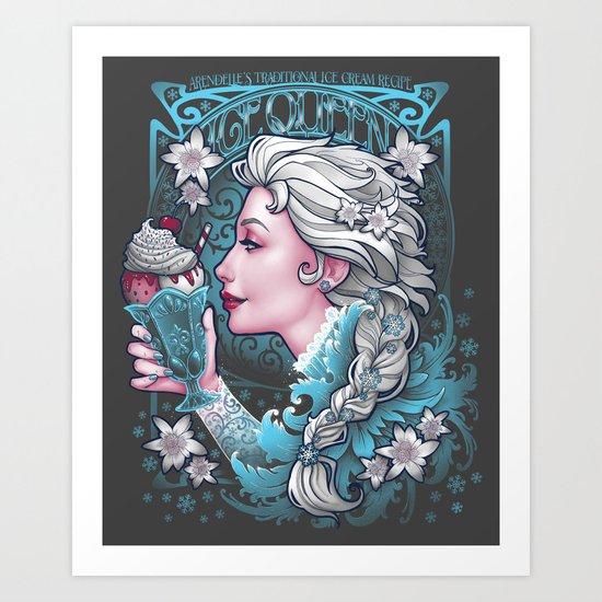 Ice Cream Queen Art Print