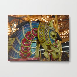 Carousel Horse Head from Seaside Heights NJ, Before the Storm Metal Print