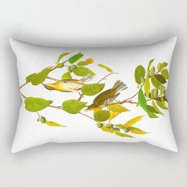 Autumnal Warbler James Audubon Vintage Scientific Illustration American Birds Rectangular Pillow