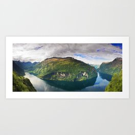 Ornevegen View Art Print
