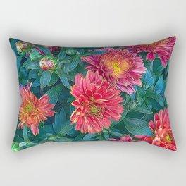 Warm Fall Mums Rectangular Pillow