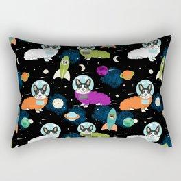 Corgi welsh corgi outer space astronaut rockets cute dog costume pet friendly dog art Rectangular Pillow