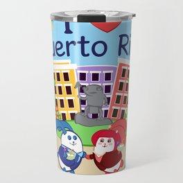 Ernest & Coraline | I love Puerto Rico Travel Mug