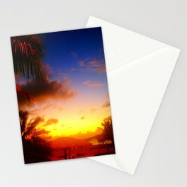 Caribbean Sunset, St. Maarten Stationery Cards