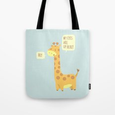 Giraffe problems! - Baby Blue version Tote Bag