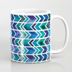 Turquoise and Green Aztec Pattern. Mug