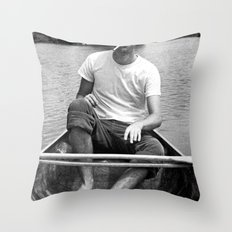 Ronn boating it up. Throw Pillow