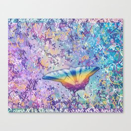 Vibrant Little Butterfly Canvas Print