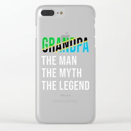 Tanzania Grandpa Legend Fathers Day Clear iPhone Case