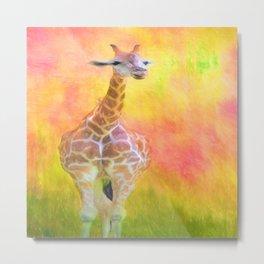 Tall Giraffe Loveliness  Metal Print