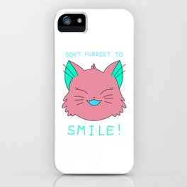 smile.cat (red lickorice flavour) iPhone Case