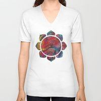 chinese V-neck T-shirts featuring Chinese Dragon  by jbjart