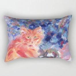 Ginger Blue Rectangular Pillow