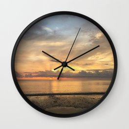 Daintree rainforest Oceanside sunrise Wall Clock