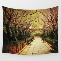 central park Wall Tapestries featuring Central Park by Vivienne Gucwa