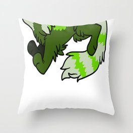 Green Panda Throw Pillow
